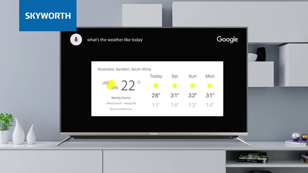 Skyworth Android TV: Voice Search Function - YouTube