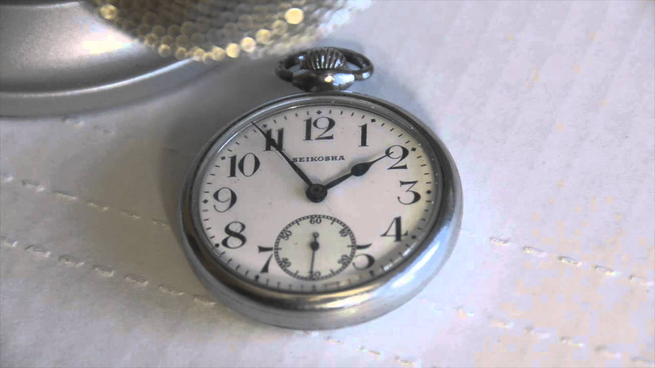 Seiko Seikosha Japanese Pocket Watch Test Footage