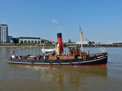 """Steam Tug """"Portwey"""" cruise on the River Thames - 14/07/2018"""