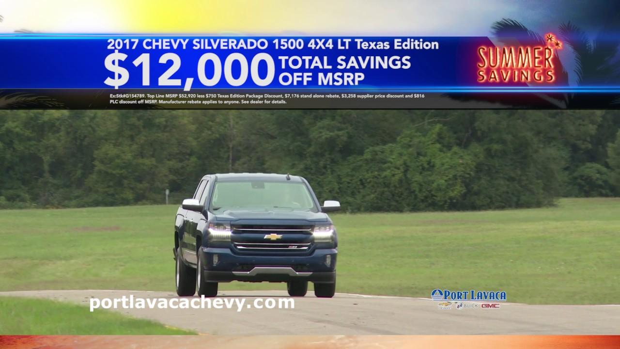 Port Lavaca Chevy Summer Savings July 2017 Youtube