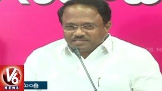 Minister Laxma Reddy Criticize Congress Leaders Over Jadcherla Public Meeting | V6 News