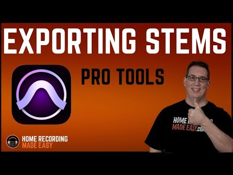 Protools - Export Stems & Share Recording Session