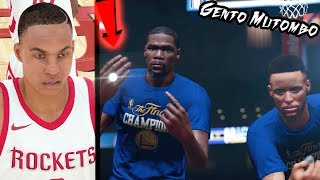 EMOTIONAL GSW Ring Ceremony! NBA 2k18 MyCAREER Gento Mutombo NBA Debut! Ep.2