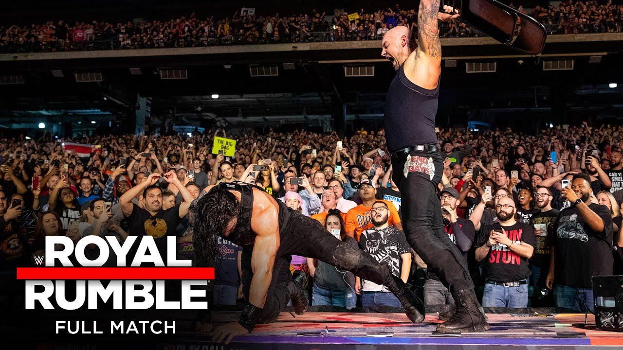 Download FULL MATCH - Roman Reigns vs. King Corbin – Falls Count Anywhere Match: Royal Rumble 2020
