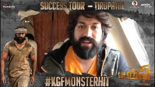 KGF Success Tour - Tirupathi - Yash, Srinidhi Shetty, Prashanth Neel