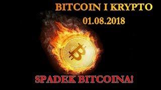 Bitcoin i Kryptowaluty 01.08.2018 Spadek Bitcoina!