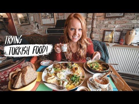 Turkish Food Tour in ISTANBUL! Trying Menemen, Salep, Tavuk Göğsü & MORE