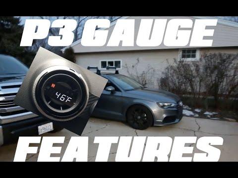 P3 Gauge features!!   2015 Audi A3