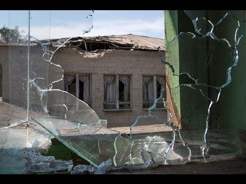 Ночной обстрел Донецка снаряды попадали в жилые дома 19 мая 2015