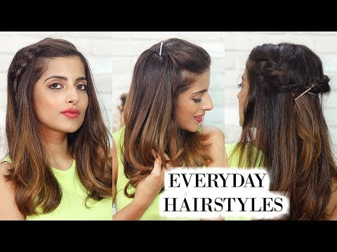 3 Everyday Hairstyles For Medium Hair For School, College, Work   Knot Me Pretty thumbnail