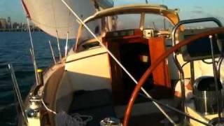 Morris Yachts' M42 sails along the Miami waterfront!