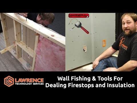 Wall Fishing Tools & How To Use Them When Dealing With Fire Stops And Insulation