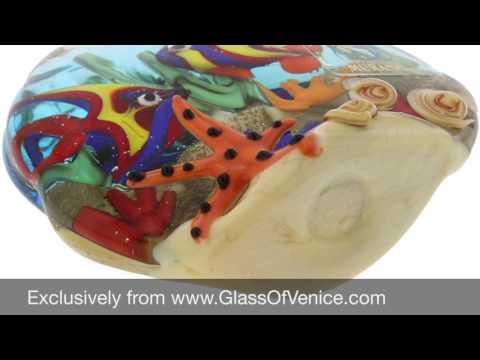 Murano Glass Sea Floor Aquarium Paperweight Sculpture