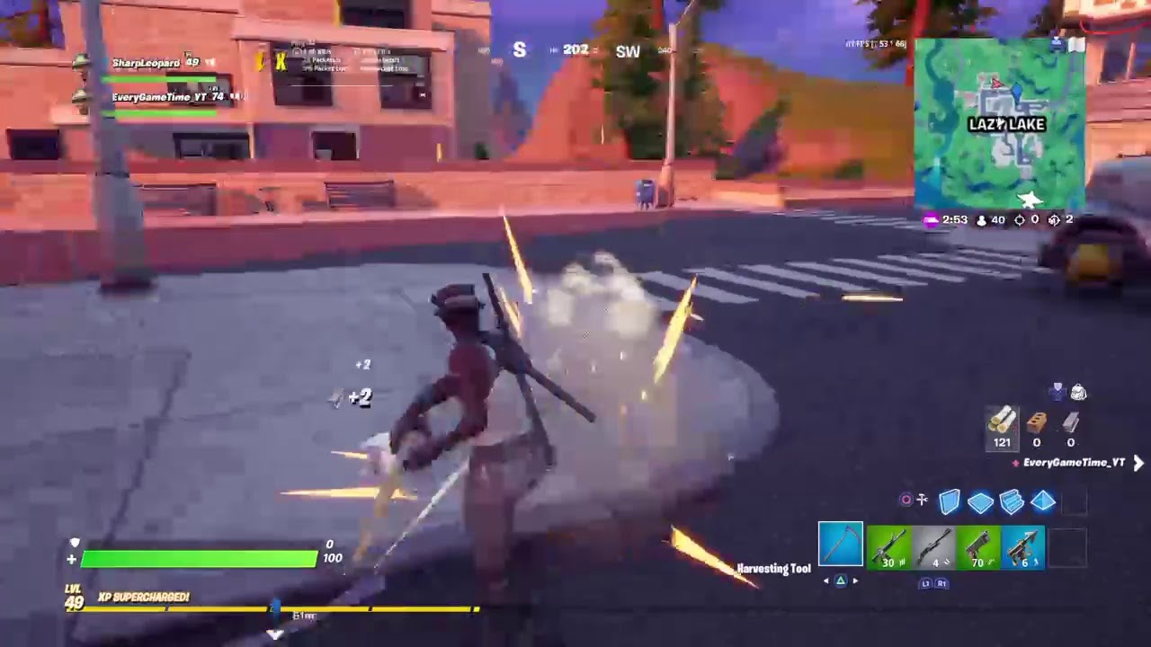 Fortnite gameplay with evergametime!!!!