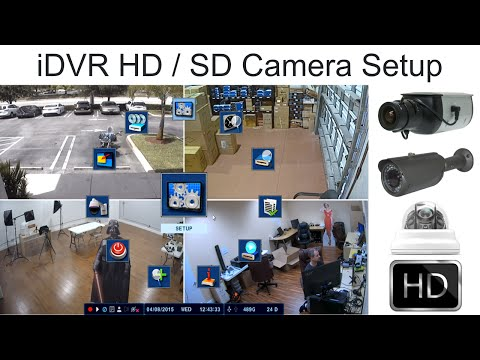 Analog / HD CCTV Camera Hybrid Setup for iDVR Surveillance DVRs