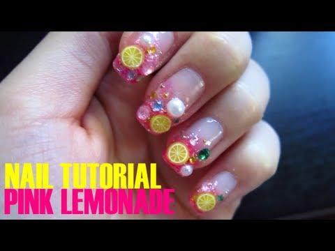 Nail Tutorial Pink Lemonade Nails