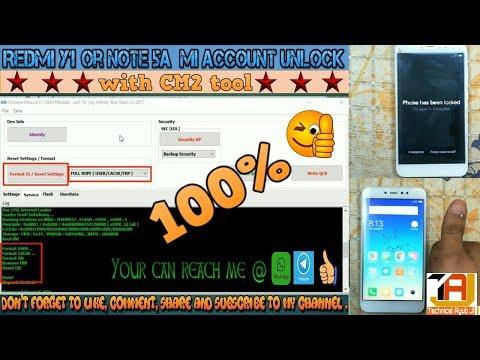 Xiaomi Redmi Y1 MDI6S MI Account / FRP unlock with  CM2 tool