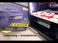 Corsair CX650m 650 Watt 80 Plus Bronze PSU Power supply unboxing and installation on PC