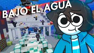 Mas de 100 jugadores en Minecraft construyen una ciudad bajo el agua (los obligue)