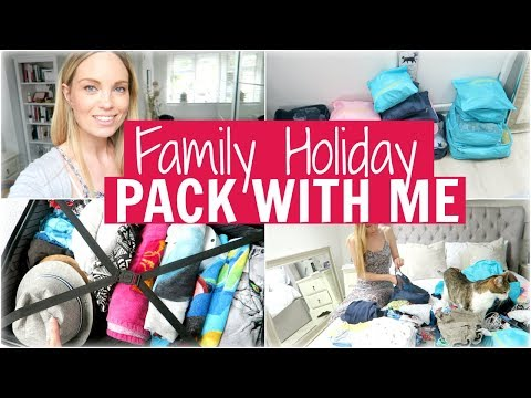 FAMILY HOLIDAY PACK WITH ME | Alex Gladwin