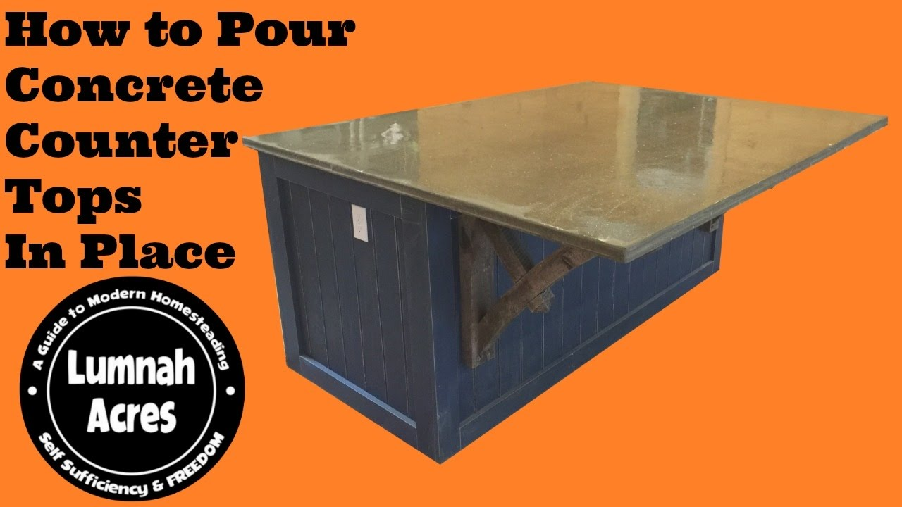 Pouring Concrete Counter Tops in Place! - YouTube