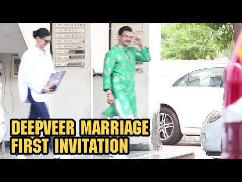 Ranveer Singh & Deepika Padukon GIVES there First Marriage Invitation To Sanjay Leela Bhansali