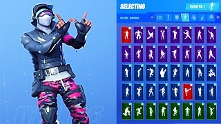 NEW Fortnite Gage Skin Outfit Showcase with All Dances & Emotes