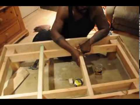 Homemade Wood Toddler Bed Frame - YouTube