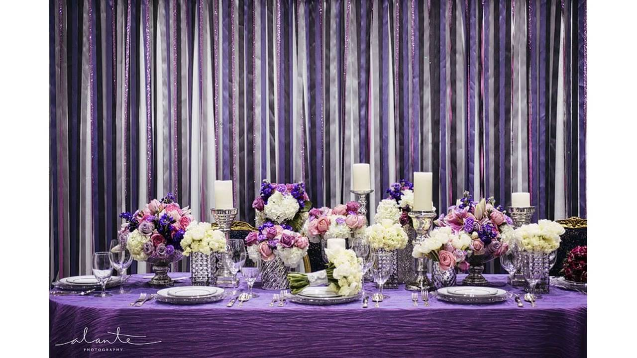 Purple Wedding Decorations - YouTube