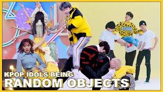 kpop idols and their backup dancers being random stuffs