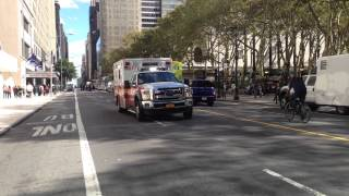 BRAND NEW FDNY EMS AMBULANCE & A NYPD UNMARKED UNDERCOVER POLICE CRUISER RESPONDING SIMULTANEOUSLY.