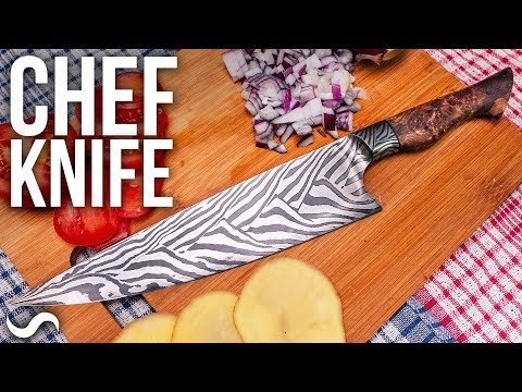 MAKING A CHEF'S KNIFE!!! FINISHED! Part 7