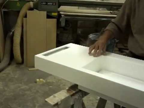 lavelli per bagno in corian - YouTube