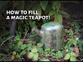 How to fill a magic teapot - bottom filled teapots handmade by Pollyceramics
