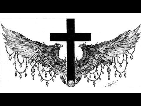 46b83a529 Cross & Wings Tattoo - YouTube