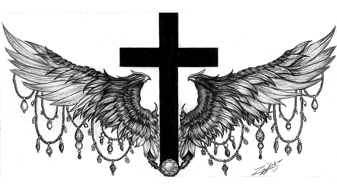 Cross Wings Tattoo Youtube