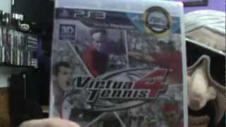 Virtua Tennis 4 com PS Move + Game play + Unbox