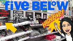 FIVE BELOW SHOPPING!!! *NEW* $5 CLOTHES, BRAS, SLEEPWEAR, SWEATS + MORE!!!