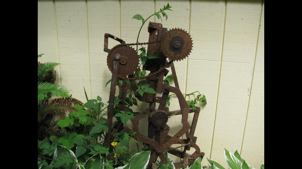 Making metal sculptures for yard art - YouTube on Backyard Metal Art id=63759