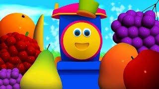 Learn Fruits   Kindergarten Cartoons and Nursery Rhymes by Bob The Train