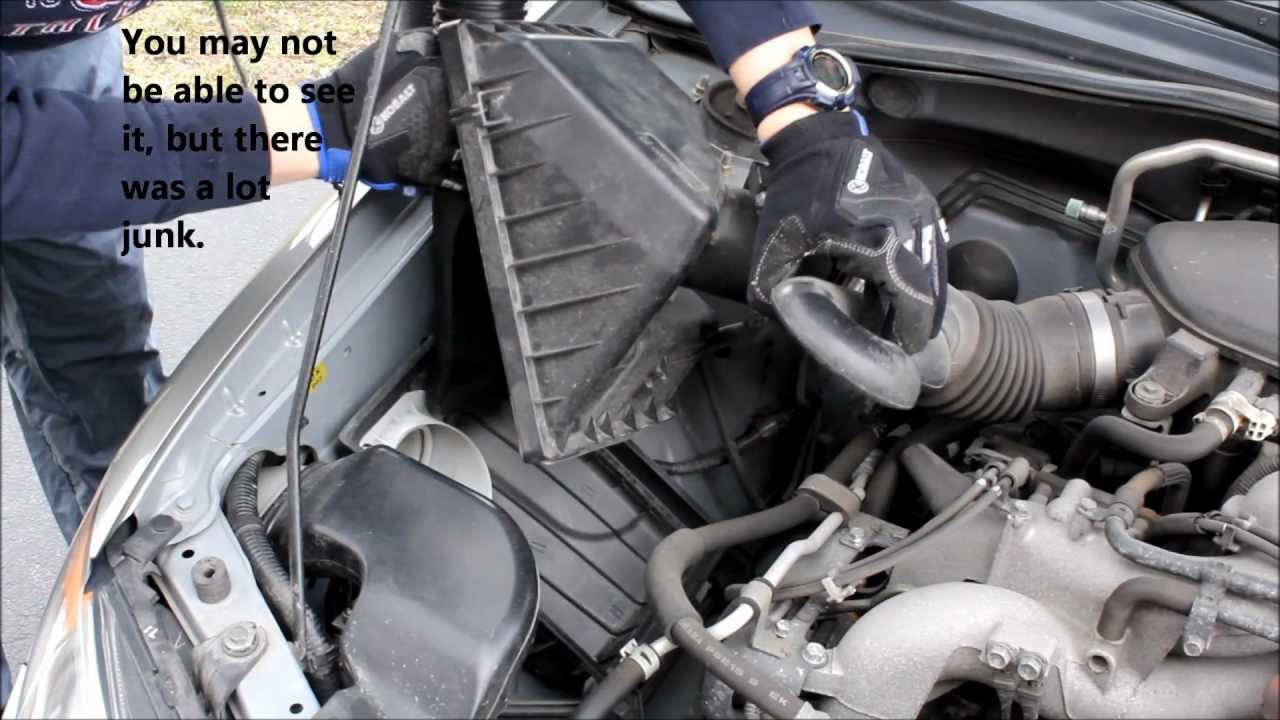 2006 subaru impreza 2 5i - replace air filter