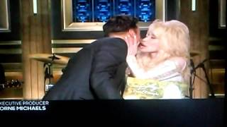 Dolly Parton Kisses Jimmy Fallon