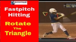 best fastpitch softball power hitting drill rotate the triangle a rotational hitting mechanic