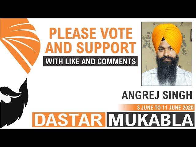 ANGREJ SINGH || Dhansikhi Dastar Mukabla || Dhansikhi Turban Tying Compitition 2020