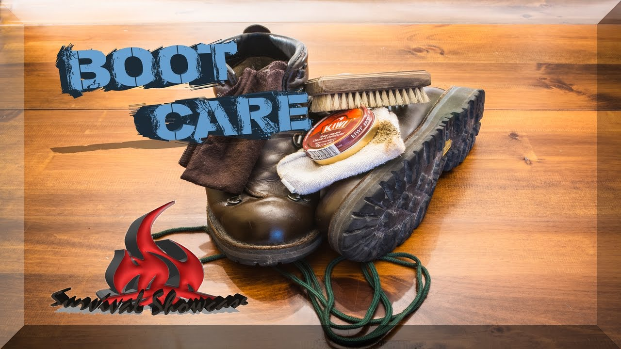 Boot Care Danner Leather Boots Clean & Polish - YouTube