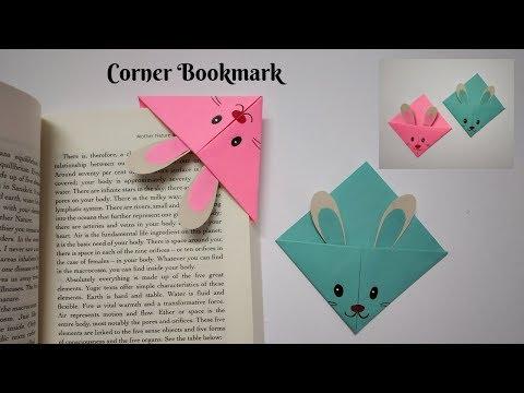 DIY Corner Bookmark | Bunny Bookmark | Paper Crafting