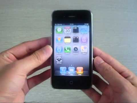 iPhone 4 (Pink) Hard Case With Carbon Fiber Stick Skin Tran