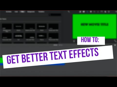 How to Get More Text Effects (iMovie Tutorial)