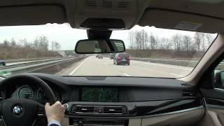 The co-drivers view: driving fast on the Autobahn