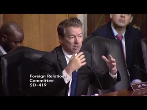 Rand Paul Questions Obama's Role on Nation Building and Regime Change | Libya